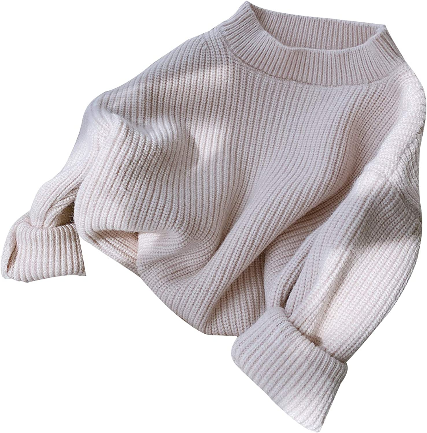 At the price of surprise Toddler Baby Girl Boy Knit Max 62% OFF Sweater Color Long Sleeve Solid Loose