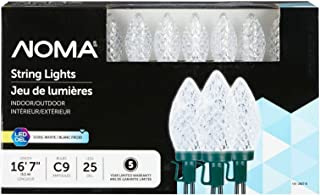 NOMA LED C9 Christmas Lights | Indoor/Outdoor String Lights | Classic Clear White Bulbs | 25 Light Set | 16.8 Foot Strand | UL Certified