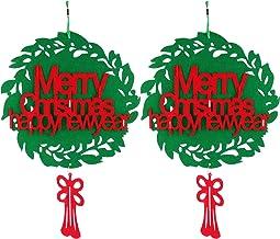 ABOOFAN 2Pcs Sentiu Pendurado Presentes de Natal Pingentes Porta Decorações Loja Pendurado Decorações