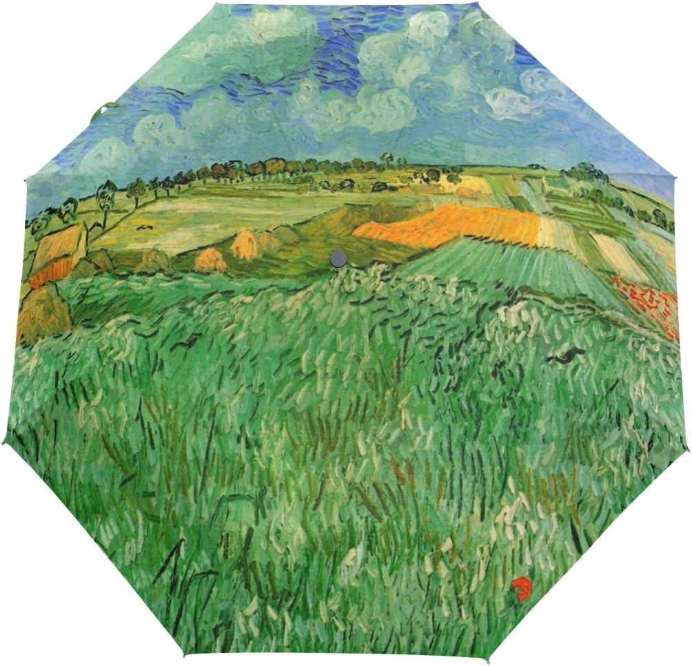 JSTEL Van Nashville-Davidson Mall Direct sale of manufacturer Gogh Landscape Paintings O Windproof Auto Umbrellas UV