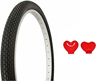 Tire Duro 26 x 2.125 Black/Black Side Wall HF-120A. comes with FREE Heart Valve Cap Bicycle tire, bike tire, beach cruiser bike tire, cruiser bike tire, chopper bike tire, trike tire, tricycle tire