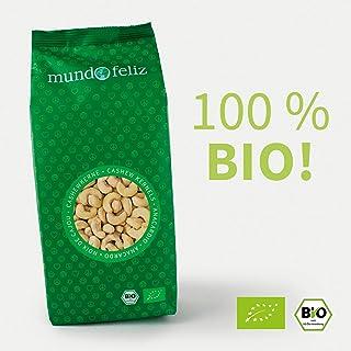Mundo Feliz - Anacardos ecológicos enteros, 2 bolsas de 500