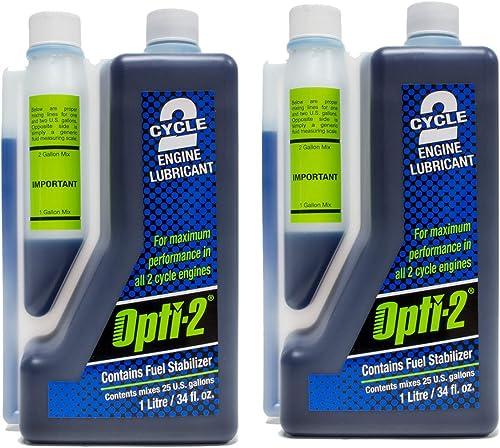 2021 2PK Opti 34oz Bottle 2 popular Cycle Engine Oil Mix Opti-2 Enviro Formula new arrival 20112 outlet sale