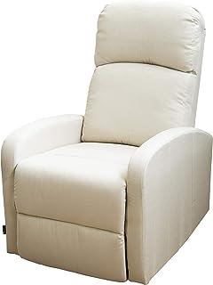 comprar comparacion Astan Hogar Confort Plus Sillón Relax, Tela, Crema, Compacto
