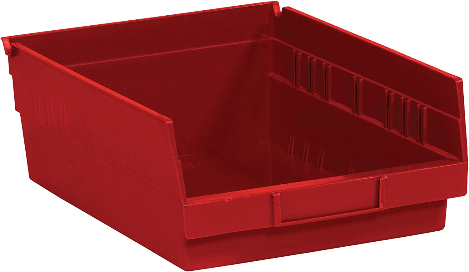Poly Inventory cleanup selling sale Bag Guy Plastic Shelf Tucson Mall Bin Boxes 11 5 8 Red x 3 4