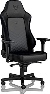 noblechairs Hero Gaming Chair - Office Chair - Desk Chair - PU Leather - 330 lbs - 125° Reclinable - Lumbar Support - Racing Seat Design - Black/Blue