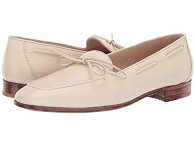 Gravati Bowed Velukid Slip-On Loafer (Cream) Women