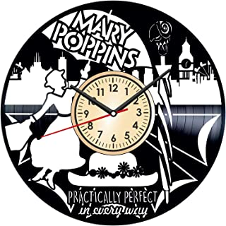 Mary Poppins Vintage Vinyl Wall Clock - Great Home Decor for Bedroom Kitchen Living Room Idea Birthday Christmas Anniversa...