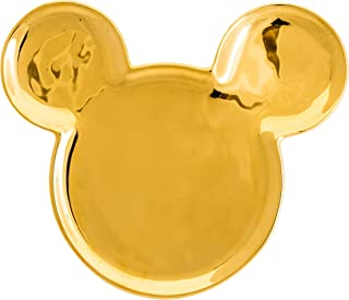 Joy Toy 62150Deluxe Mickey Mouse Goldiger Ears Ceramic Plate 18x15x2cm–gold