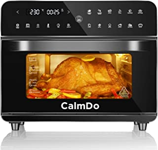 CalmDo Friteuse sans Huile, 25L Mini four électrique avec 12 Programmes, 1800W Four à Air chaud pour Faire Frire, Rôtir, D...
