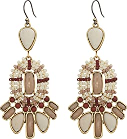 Lucky Brand Seed Bead Statement Earrings