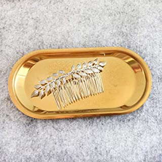 Aegenacess Wedding Hair Combs Decorative Leaf Leaves Bridal Hair Clip Laurel Greek Branch Boho Grecian Side Comb Accessories Headpieces for Brides and Bridesmaids Women Girls (Silver)