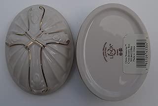 Lenox China Treasures Gold Banded Ivory China Pierced Cross Jewlery Box