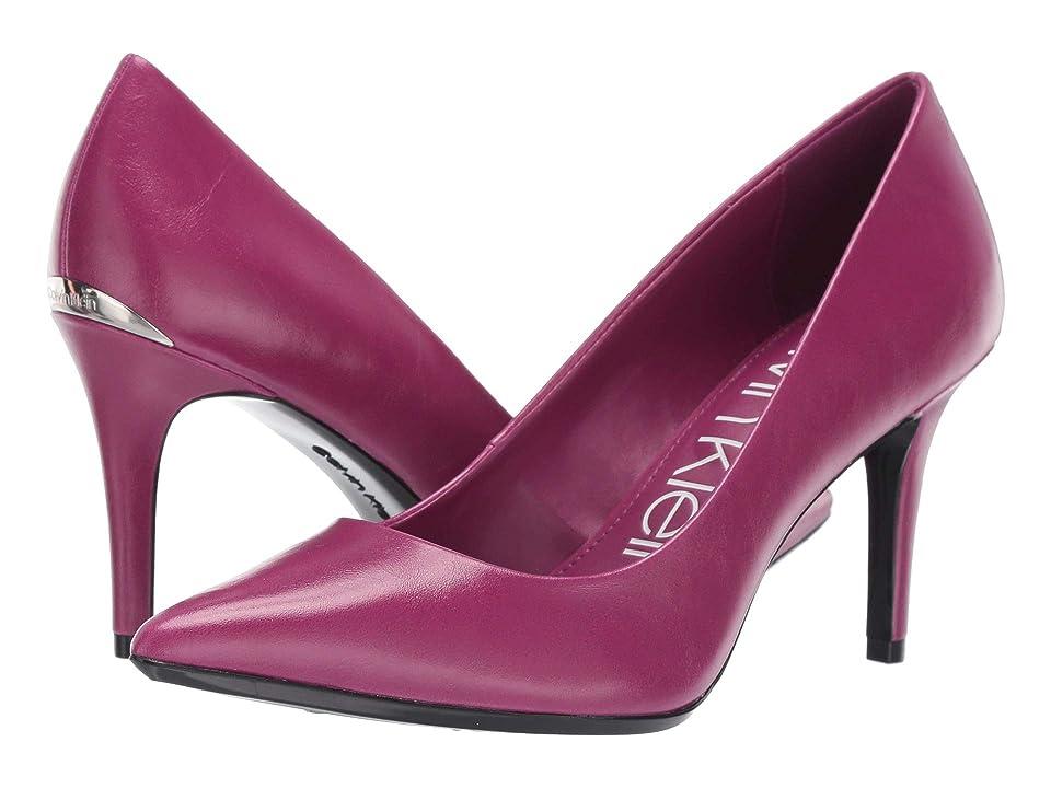 Calvin Klein Gayle Pump (Magenta Varnished Crackle) High Heels