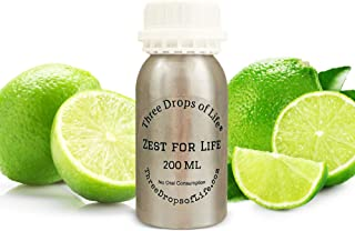 Special Lemon Essential Oil Blend, Best Used in Cold Air Diffusion Aromatherapy Diffusers, Highly Rated Scented Fragrance Oils (Zest for Life, 200ML)