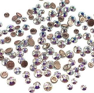 Crystal AB (001 AB) 2038/2078 Swarovski Iron on HOTFIX Mixed Sizes ss12 ss16 ss20 Flatbacks Round Rhinestones Embellishment