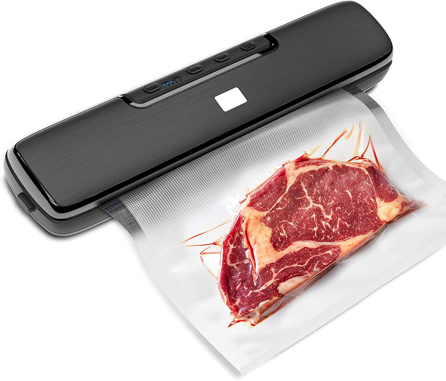 Miavogo Vacuum Sealer Machine, Automatic Food Saver Vacuum Sealer, Food Sealers Vacuum Packing Machine with Bags (15pcs) & Starter Kits, for Dry & Moist Food Storage