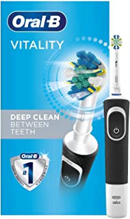 Oral-B Electric Toothbrush with 1 Oral-B Replacement Brush Head, Vitality Flossaction, Black