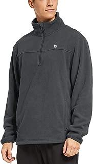 Men's 1/4 Zip Fleece Jacket Thermal Running Shirts Outerwear Side Zipper Pockets