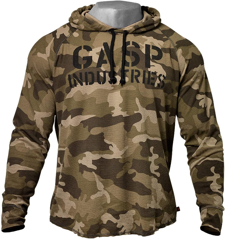GASP LS Thermal Hoodie 緑 Camoprint フード ジャケット パーカー プルオーバー ボディービル フィットネス ウェア XL サイズ