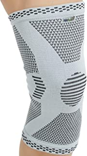 (S) - Neotech Care Knee Sleeve, Brace, Support - Bamboo fibre - Elastic & Breathable Fabric - Grey Colour - Size S - Packa...