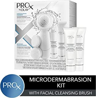 Facial Cleansing Brush by Olay Prox, Face exfoliating Microdermabrasion kit, Packaging may Vary