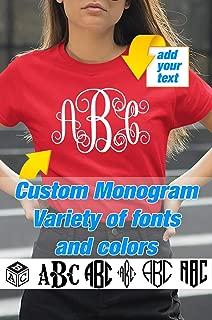 Custom Monogram Shirt for Women Bridal Bridesmaid Party Monograms Gifts