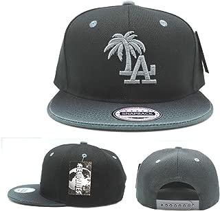 Headlines Los Angeles New Leader Custom LA Palm Black Gray Fade Flash Era Snapback Hat Cap