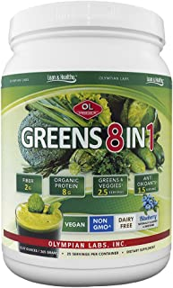 Olympian Lab Greens Protein 8 In 1, 388 Gram