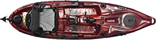 Riot Mako 10 Angler Sit-on-Top Kayak with Impulse Pedal Drive, 10', Fire Storm red/Black