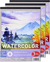 Artist's Loft Watercolor Paper Pad, Pack of 3, 140lb.