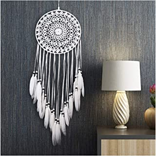 Ricdecor Dream Catcher Wall Hanging car Hanging Decoration Ornament Boho Dream Catchers for Home (White)