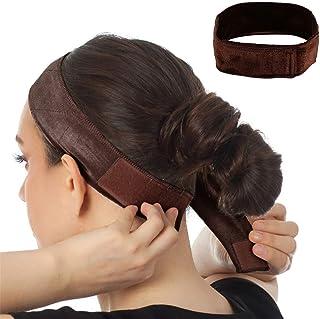 queensecret Velvet Wig Grip Band Adjustable Wig Non-slip Head Hair Band, wig accessories, wig grip headbands for women (Br...