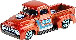 Hot Wheels Orange & Blue 53rd Anniversary Custom '56 Ford Truck 2/5 DieCast Vehicle 1:64th Scale