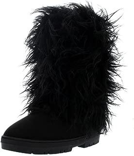 Womens Long Covered Rain Winter Warm Tall Snow Boots