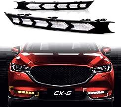 KE-KE Arrow Full LED White DRL Daytime Running Light/Amber Dynamic Sequential Turn Signal For 2017 2018 2019 Mazda CX-5 CX5 accessories