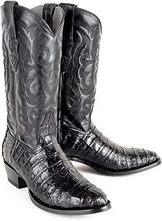 Original Black Caiman (Gator) Belly Skin Round Toe Boot