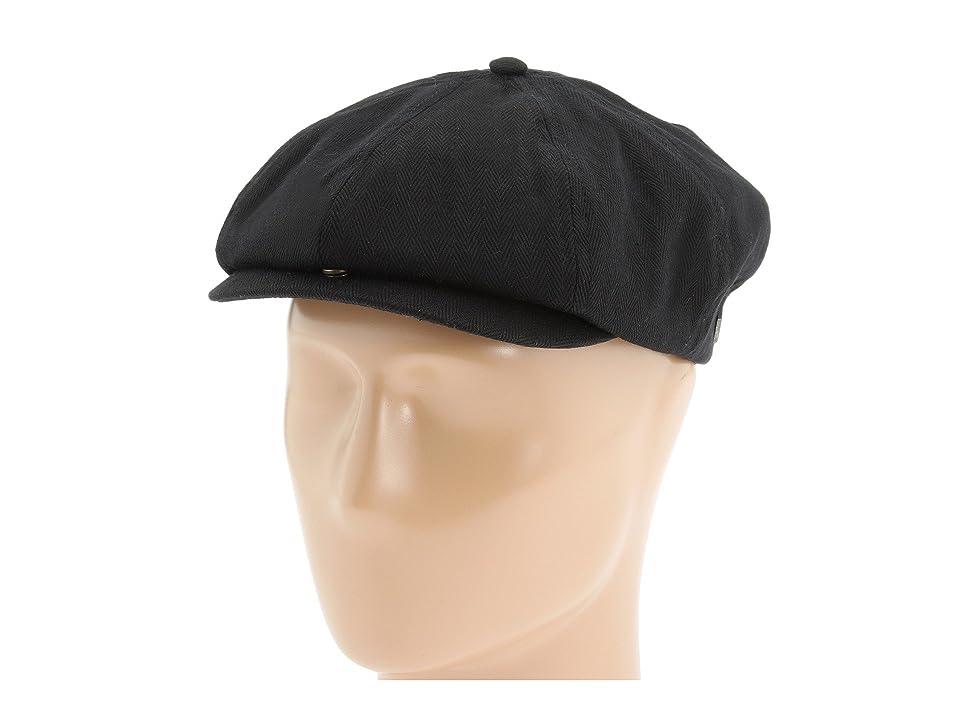 Men's Vintage Style Hats Brixton - Brood Black Herringbone Twill Caps $35.00 AT vintagedancer.com