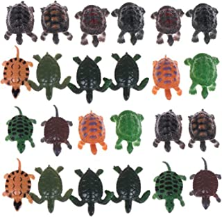 AOPOO 24 Pieces Turtle Figurines Realistic Sea Turtle Decorations Lifelike Tortoises Ocean Animal Small Turtle Plastic for Party Favor Decoration