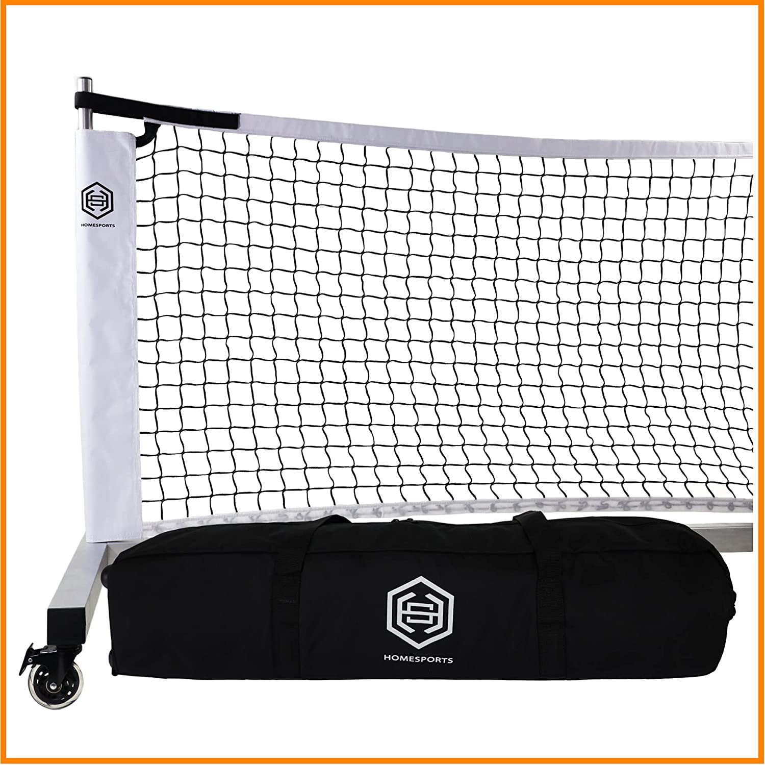 Cheap DOMINATOR Portable Pickleball Net Selling rankings w Locking Rolling Carry R Bag.