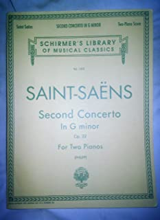 [(Camille Saint-Saens: Piano Concerto No.2 in G Minor Op.22 (2-Piano Score) )] [Author: Saint-Sans Camille] [Nov-1997]