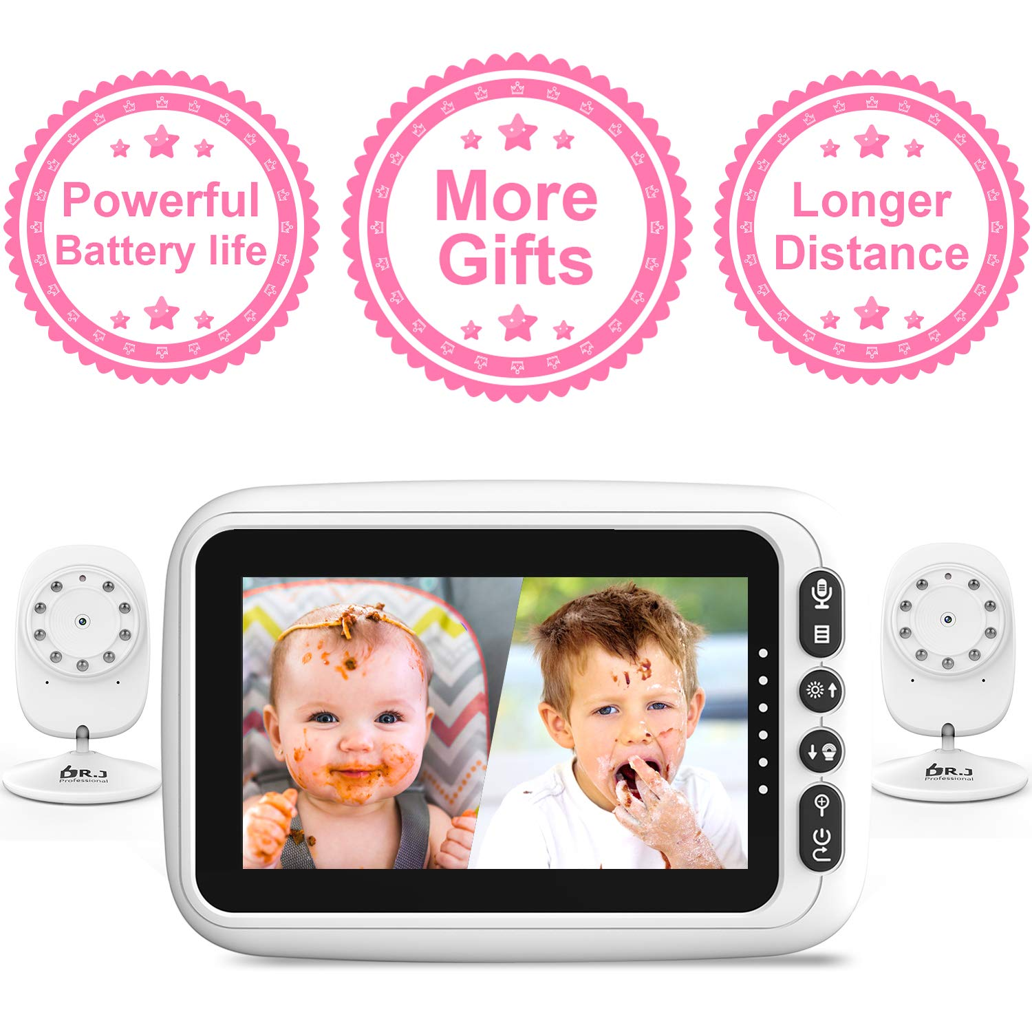 Cameras Auto Switch Rechargeable Temperature Lullabies