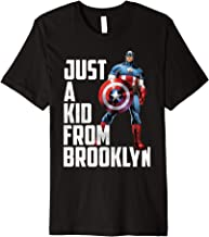 Marvel Avengers Captain America Just A Kid From Brooklyn Premium T-Shirt