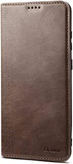 Flip Case for Samsung Galaxy S20 Plus S20+, coffee PU Leather Wallet Cover (Compatible with Samsung Galaxy S20 Plus S20+)