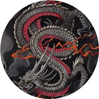 NiYoung Black Red Chinese Dragon Dragon Ball Art Non Slip Door Mat Outdoor Decorative Garden Office Bathroom Bedroom Living Room Door Mat with Non Slip Inside & Outside Area Rug Floor Mat 24Inch