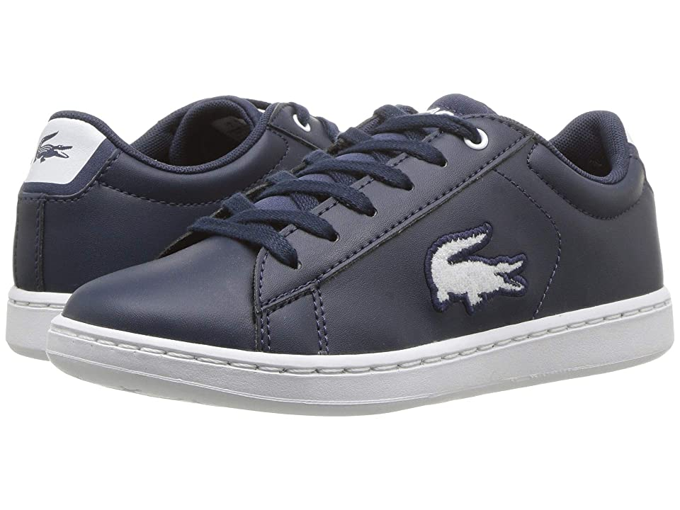 Lacoste Kids Carnaby Evo (Little Kid) (Navy/White) Kids Shoes