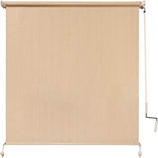 Coolaroo Exterior Roller Shade, Cordless Roller Shade with 90% UV Protection, No Valance, (4' W X 6' L), Southern Sunset