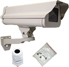 VENTECH Outdoor Weatherproof Heavy Duty Aluminum CCTV housing Security Surveillance Camera Housing Camera Mount Enclosure with Bracket