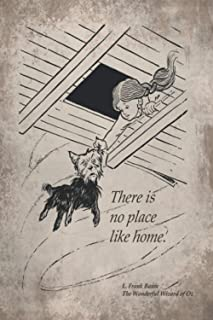 """The Wonderful Wizard of Oz Quote Vintage Notebook: There is no place like home: 6"""" x 9"""", 120 pages, Blank Lined notebook, ..."""