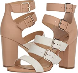 Ivory/Blush Nude Soft Tumbled Leather